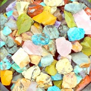 Rare 1/2 LB Rough Crystal and Gemstone World Mix